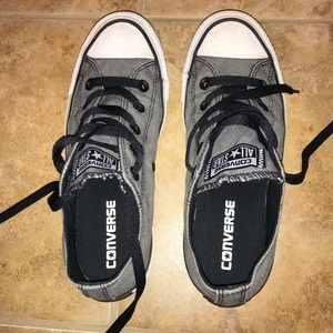 Low Top Converse Gray Sneakers